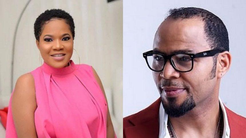 Nigerian actress, Toyin Abraham and actor, Ramson Noah.