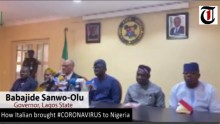 Govenor Babajide Sanwo-Olu of Lagos explaining how Italian brought #Coronavirus to Nigeria