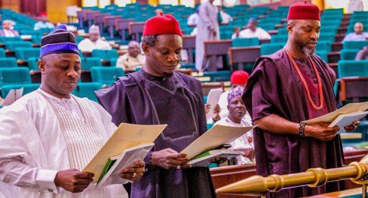 L-R: Samson Okwu, Chinedu Ogah and Obinna Chidoka