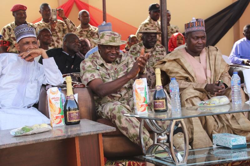 from left; Yobe Speaker, Mirwa, sec com Maj. s Idris, SA security, Rtd Brig. Gen. Abdulsalam