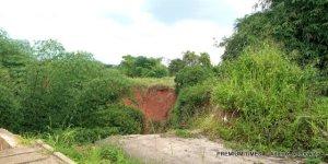 Gully behind block of flats in University of Benin, Oredo LGA of Edo state.
