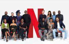 Back row (From L-R): Banky W, Ted Sarandos (Netflix Chief Content Officer), Kate Henshaw, Richard Mofe-Damijo, Felipe Tewes (Netflix Italian & African Originals Director), Omoni Oboli, Ben Amadasun (Netflix Africa Licensing Director) and Akin Omotoso.