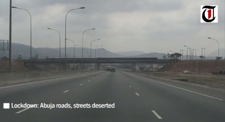 Empty Abuja roads