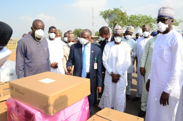 Handing Over of equipment to the hospital management by NNPC Group Managing Director, Mele Kyari.