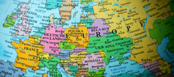 Map of Europe used to tell the story. [PHOTO CREDIT: International Airport Review]