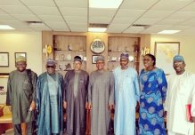 Bala Mohammed with Dangote officials