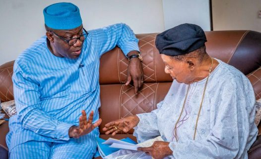 Governor Kayode Fayemi and Alaafin