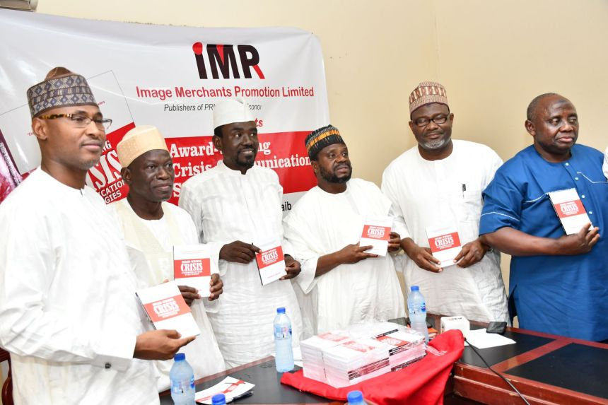 L-R Yakubu Musa of NCC, Senator Umar Dahiru, Yushau Shuaib, Ahmed Nagode of NAPTIN, Dr Isa Abdulmumini of CBN, Rasheed Hassan of Third-Estate Forum