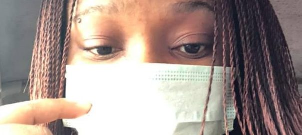 Mrs Uche Nnamoko was been mocked for wearing a face mask to prevent her from coronavirus
