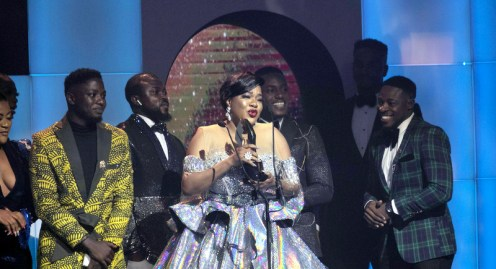 Toyin Abraham emerged winner in the 'Best Actress in a Drama MovieTV Series category for her role in the movie Elevator Baby
