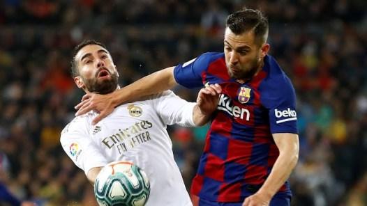 Carvahal and Jordi Alba clash