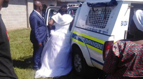 South African newlyweds arrested