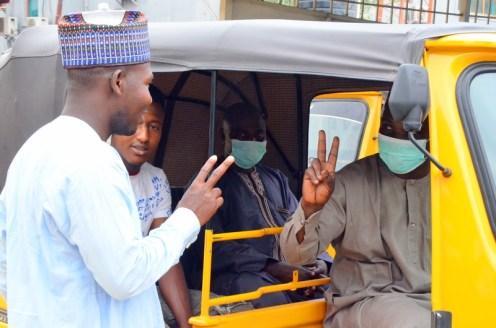 Simba TVS distributes 'safety and hygiene packs' to Keke riders