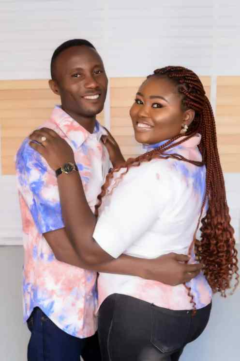 Gloria Ugede and her fiance, Anthony Omale
