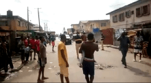Some Lagos residents protest over the Coronavirus Lockdown