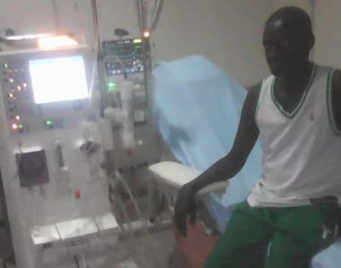 Sunday Samuel while in hospital