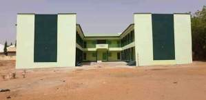 Newly constructed classroom in Gombe State.