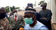 Professor Ibrahim Gambari speaking with Journalist
