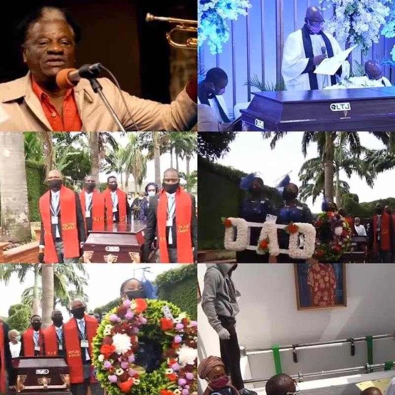 Pictures from the burial of music legend, Dr. Victor Olaiya, today in Ikoyi, Lagos State on Thursday