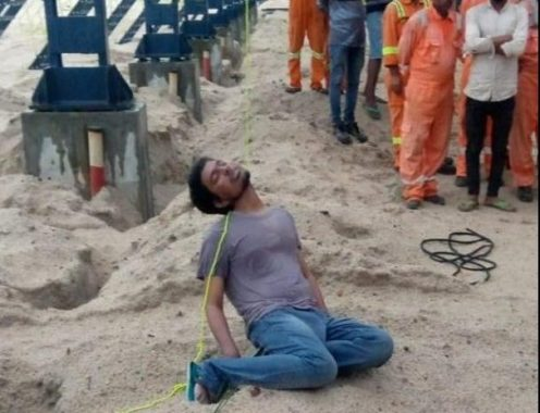 Shivajeet Kumar who hanged himself on Dangote Refinery site