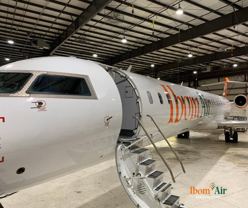 The new bombardier CRJ 900 in Ibom Air fleet