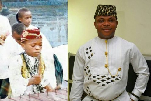 Udo Maryam before and now (photo by information nigeria)