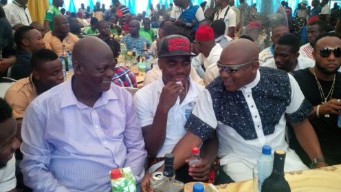 Valere Houdonou and Keshi with Emenike at a function