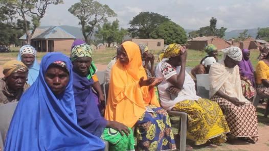 Scenes from distribution of palliative materials by the AB Haske Foundation in Adamawa
