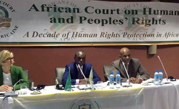 African Court on Human and Peoples' Rights President Justice Slyvain Ore (centre) during a training for senior editors and journalists at Mount Meru Hotel in Arusha on September 8, 2016. [CREDIT: Lucas Barasa/The Nation Media Group]