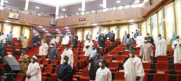 Senate chambers during plenary. [PHOTO CREDIT: Official Twitter handle of the Nigerian senate]
