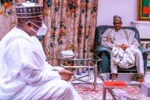 President @MBuhari receives Senate President, Senator @DrAhmadLawan this afternoon at the State House, Abuja.