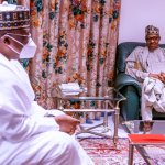 President @MBuhari receives Senate President, Senator @DrAhmadLawan this afternoon at the State House, Abuja.