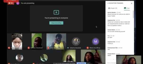 U-monitor virtual training session