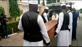 Ajimobi's body arrives for burial