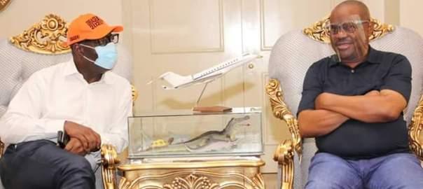 Godwin Obaseki, visits Nyesom Wike