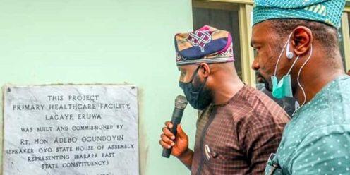 Ogundoyin unveiling the inscription of the health facility last Saturday.