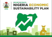 Cover Page of report: BOUNCING BACK: NIGERIA ECONOMIC SUSTAINABILITY PLAN 2020 (Attached)