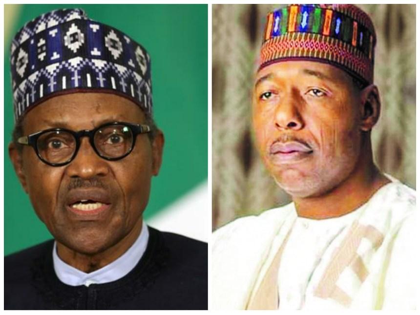President Muhammadu Buhari and Borno State Governor, Babagana Umara Zulum
