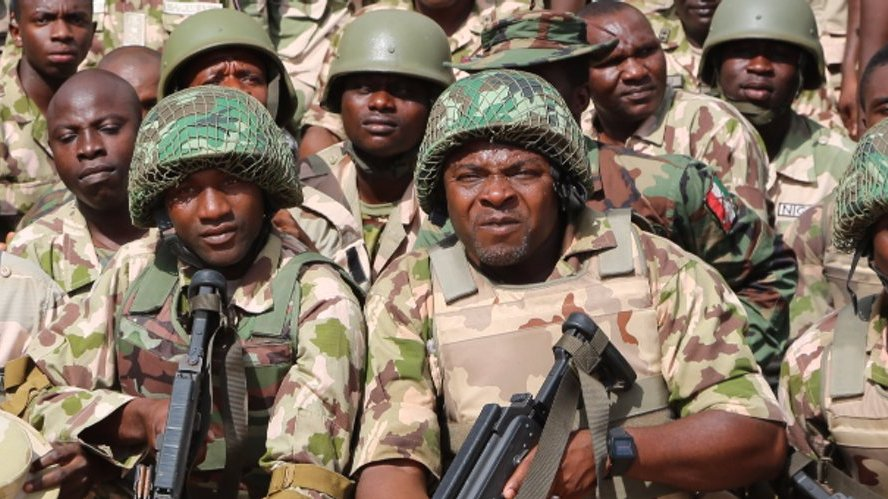Troops of the Nigerian Army. [PHOTO CREDIT: Official Twitter handle of the Nigerian Army @HQNigerianArmy]