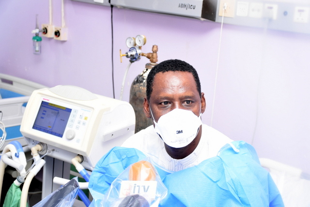 Dr Mohammed Kawu speaking from his bed at the Asokoro Hospital
