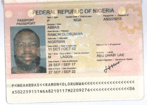 Hushpuppi 's Passport