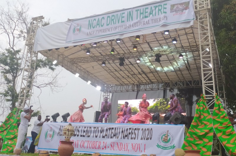 Nigeria's art and culture agency unveils drive-in theatre
