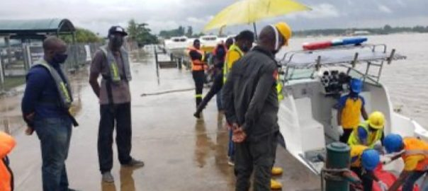 A body recovered after the boat accident at Ikorodu [PHOTO CREDIT: Lagos State government]
