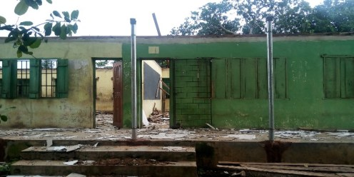 JSS block of Community High School, Ebute Igbooro under renovation