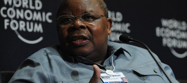 Benjamin William Mkapa (Co-Chair, Investment Climate Facility for Africa) at the World Economic Forum on Africa held in Dar es Salaam, Tanzania, May 7, 2010. [Photo by Zahur Ramji / Mediapix]