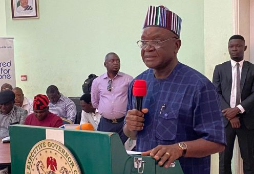 Benue State Governor, Samuel Ortom(PHOTO CREDIT: @Gov SamuelOrtom)