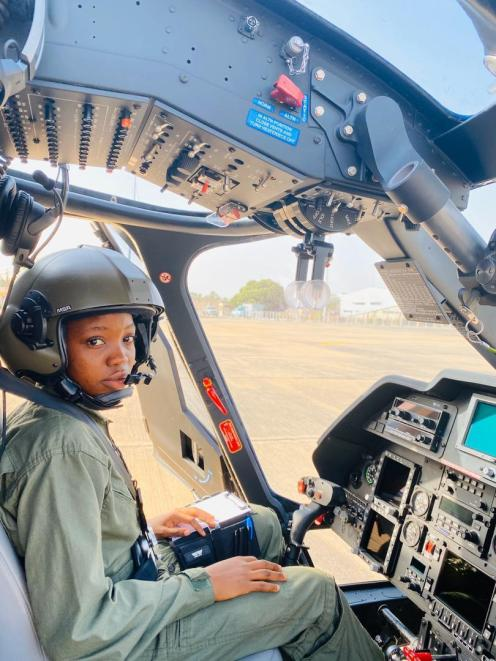 Nigeria's first female combat helicopter pilot