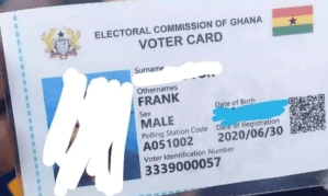Ghanian Voter's ID Card [Photo Credit: The Independent Ghana]