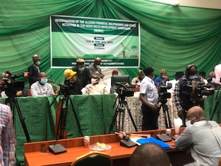 Lawmakers and invited guests seated at the venue of the investigation of alleged financial recklessness by the NDDC currently going on at the House of Representatives