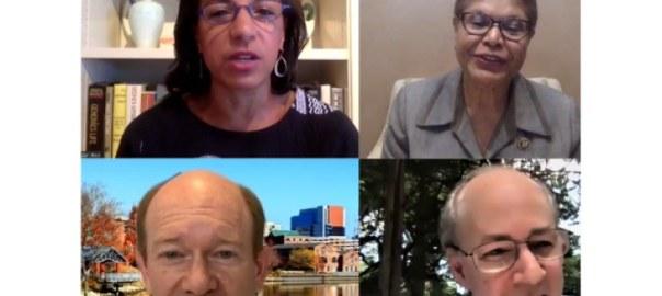 Biden Virtual Fundraiser Discussing U.S. - Africa Policy Priorities - Susan Rice, Karen Bass, Chris Coons, Brian McKeon. [PHOTO CREDIT: AllAfrica]